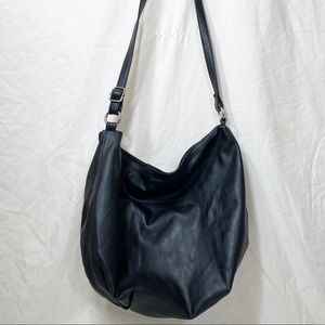 H&M Black Slouchy Faux Leather Crossbody